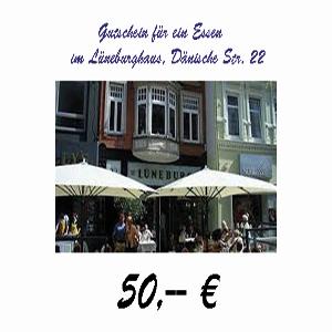 Gutschein für das Lüneburghaus im Wert von 50 €