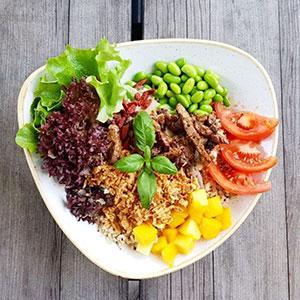 Crunchy Beef o. Chicken Bowl